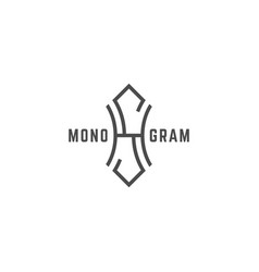 Geometric monogram hs vector