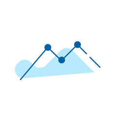 graph diagram icon finance statistics symbol flat vector image