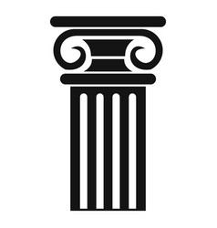 greek column icon simple style vector image