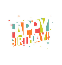 greeting card for birthday negative space vector image