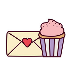happy valentines day message mail envelope sweet vector image