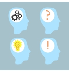 head idea silhouette vector image