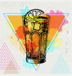 Hipster cocktail long island vector