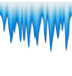 icicle border ice cap isolated vector image
