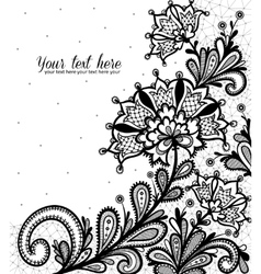 Lace background with a place for text vector image