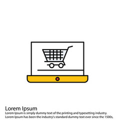 Line filled perfect icon or pigtogram vector