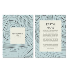 Line topography map contour banners set vector
