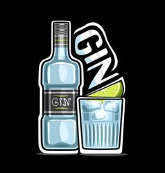 logo for gin vector image