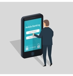 Mobile banking and payment vector image