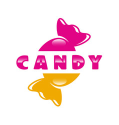 modern sweets and candy logo vector image