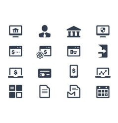 Online banking icons vector