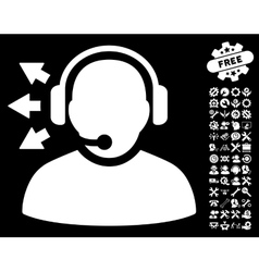 Operator Answer Speech Icon With Tools vector