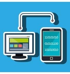 Pc screen smartphone data binary vector
