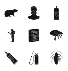 pest poison personnel and various equipment vector image