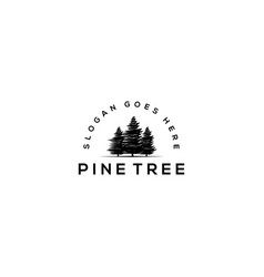 pine-tree icon isolated sign symbol vector image