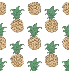 Pineapple seamless pattern vector image vector image