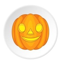 Pumpkin lantern icon cartoon style vector