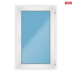 Pvc window with one sash vector