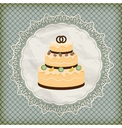 retro wedding invitation vector image