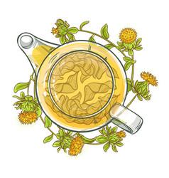 Safflower tea vector