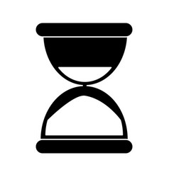 Sand clock time pictogram vector