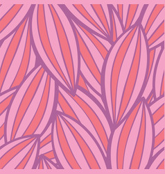 seamless floral background pattern in pink vector image