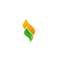 shape ecology nature logo vector image