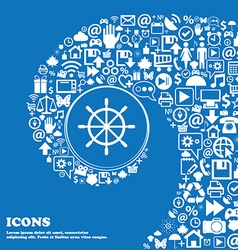 ship steering wheel icon Nice set of beautiful vector image