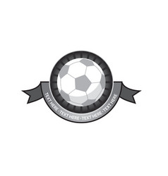 Soccer emblem retro vector