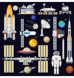 spacecraft and space technology industry vector image