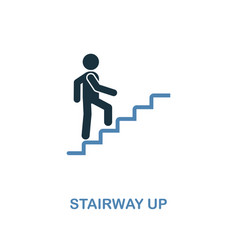 stairway up icon monochrome style design from vector image