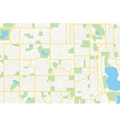 streets on the plan - city vector image