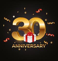 Template logo 30 years anniversary eps10 vector