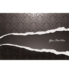 Torn damask wallpaper vector
