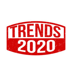 trends 2020 sign or stamp vector image