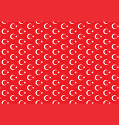 turkey moon star abstract seamless pattern vector image