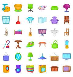 washing icons set cartoon style vector image