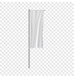 white panel flag mockup realistic style vector image vector image