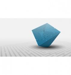 3d maze background vector image