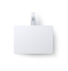 advertising rectangular wobbler isolated on white vector image