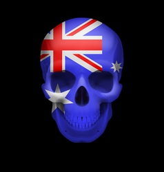Australian flag skull vector