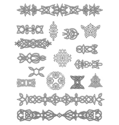 Celtic ornaments and embellishments vector image