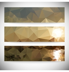 Set of horizontal banners Mountains and sea vector image