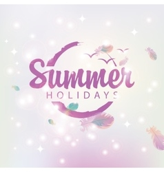 Travel banner summer holidays vector