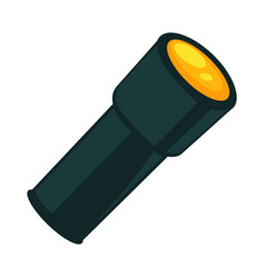 Flashlight in dark color isolated on white vector