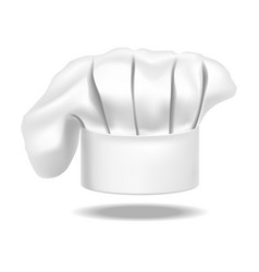 realistic detailed chef white hat on a background vector image