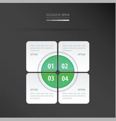 rectangle presentation design neon green vector image