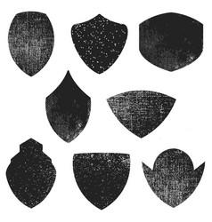 set of empty emblems with grunge effect design vector image