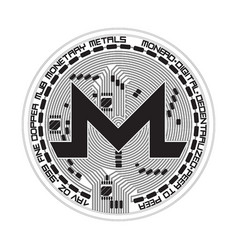 crypto currency monero black and white symbol vector image vector image