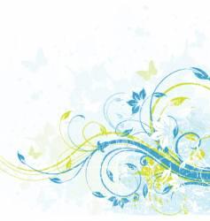 floral background element vector image vector image